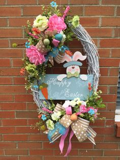 Easter wreath by TheYellowPickle on Etsy