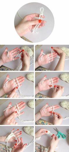 Finger knitting by ella