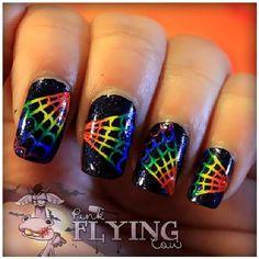 pinkflyingcow halloween #nail #nails #nailart