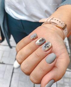 Fall Nail Designs - My Cool Nail Designs Dream Nails, Love Nails, Pretty Nails, Nail Art Cute, Cute Acrylic Nails, Nagellack Design, Minimalist Nails, Fall Nail Designs, Stylish Nails