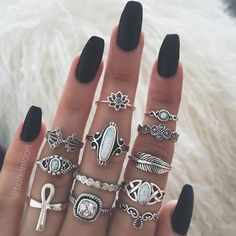 LightOnIt Womens Boho Wrap Leather Multilayer Wide Tree of Life Bracelets Jewelry for Women Teen Girl Gift – Fine Jewelry & Collectibles Nail Jewelry, Cute Jewelry, Boho Jewelry, Fashion Jewelry, Jewelry Accessories, Jewellery, Fashion Rings, Opal Stone Ring, Black Opal Stone