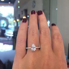 Pear diamonds are amazing!