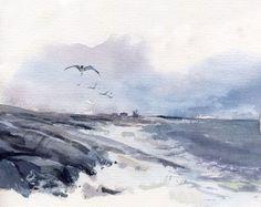 Grey sea.