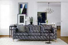 Bemz cover for Karlanda 3-seater sofa, fabric: Trianglar, design Viola Gråsten for Bemz.