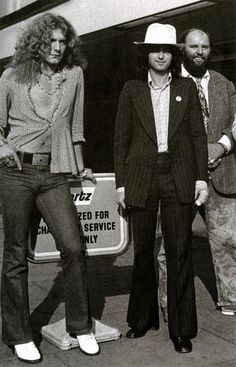 Robert Plant, Jimmy Page and Peter Grant