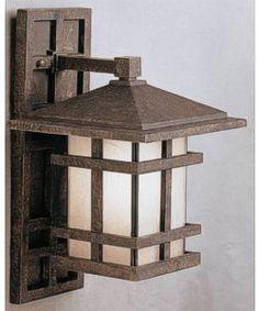 Kichler Cross Creek 1-Light Outdoor Wall Lantern Aged Bronze 9130AGZ