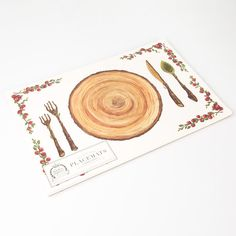Woodland Cranberry Paper Placemats Price $15.00