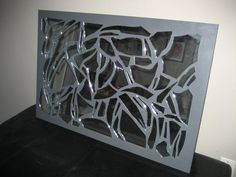 Broken Glass Mosaic Mirror by JoniLittleBitPretty on Etsy Mirror Mosaic, Mirror Art, Mosaic Art, Mosaic Glass, Broken Mirror, Broken Glass, Stone Art, Room Decor, Diy Crafts
