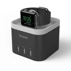 Simpeak 4 Port USB Charger Station for Apple Watch Best Apple Watch, Apple Watch Series 2, Apple Watch Charging Stand, Phone Charger Holder, Cell Phone Accessories, Usb Flash Drive, Nightstand, Top, Ipad
