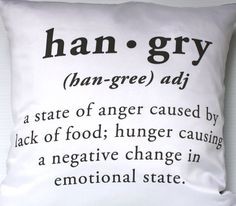HANGRY PILLOW cover hangry cushion eco friendly door mybeardedpigeon