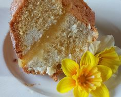 Daffodil Cake A slice of cake to herald the Spring https://grandmaabson.blogspot.co.uk/2016/03/spring-forward-with-daffodil-cake.html