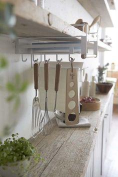 Tosca Under Shelf Kitchen Organizer in White design by Yamazaki