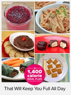 Make mealtime easy with this 1,400 calorie healthy meal plan! I'm always hungry
