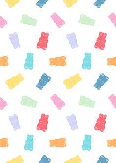 gummy-bear-pattern-repeat Cute Pastel Wallpaper, Cute Patterns Wallpaper, Bear Wallpaper, Kawaii Wallpaper, Disney Wallpaper, Cartoon Wallpaper, Cute Wallpaper Backgrounds, Wallpaper Iphone Cute, Aesthetic Iphone Wallpaper