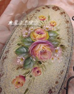 China Painting, Tole Painting, Fabric Painting, Painting & Drawing, Face Painting Tutorials, Color Magic, Truck Art, Painted Leaves, Rose Art