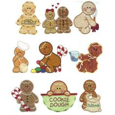 Gingerbead Kitchen Applique Machine Embroidery Designs | Designs by JuJu