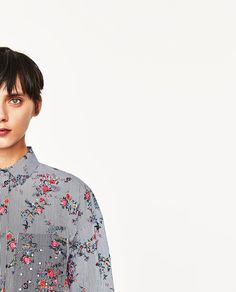 Image 4 of SHIRT WITH A STRIPE PRINT from Zara