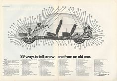 1971 VW Volkswagen BEETLE 89 Ways to Tell NEW Car from OLD Model Bugs vintage Ad