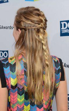 A fun braided look.