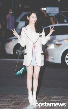 "IU at ""Hotel Del Luna"" wrap up party Iu Fashion, Korean Fashion, Beautiful Soul, Korean Singer, Harajuku, Barbie, Kpop, Actresses, Chic"