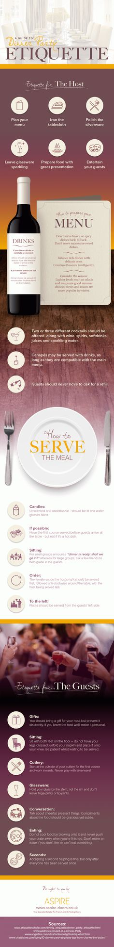 A Guide to Dinner Party Etiquette - Aspire Doors Dinning Etiquette, Etiquette Dinner, Wedding Etiquette, Ettiquette For A Lady, Beer Pairing, Etiquette And Manners, Favorite Christmas Songs, Wine And Beer, Good Advice