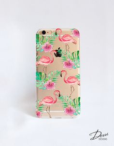 Flamingo iPhone 6 Case Pink and Clear iPhone 6 Plus Cell Phone