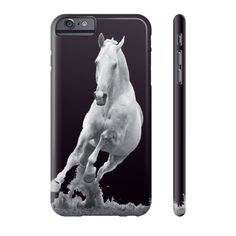 Equestrian Accessories - White Galloping Horse - iPhone and Galaxy Case