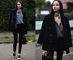 Beatrice Gutu - Blazer, Sweater, Jeans, Bag, Shoes, Watch - The Neck Scarf