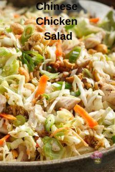 Chinese Chicken Salad - My Recipe Magic salad sidedish springrecipes Asian Recipes, My Recipes, Cooking Recipes, Chinese Recipes, Recipies, Chinese Desserts, Chicken Salad Recipes, Salad Chicken, Chinese Chicken Salads