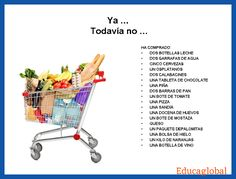 ya o todavía no. Uso con el Pretérito Perfecto. Have students take pictures of groceries as the go through the list to check for understanding.