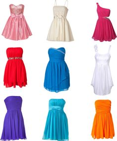 """Cute SHORT Prom Dresses"" by hayleyreese ❤ liked on Polyvore"