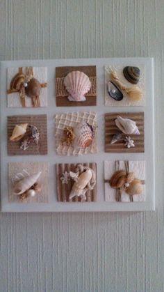 Basteln Work with shells. Sea Crafts, Diy And Crafts, Arts And Crafts, Baby Crafts, Seashell Art, Seashell Crafts, Seashell Projects, Minimalist Home Interior, Beach Art