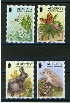 Animals on stamps of Alderney. More about stamps: http://sammler.com/stamps/