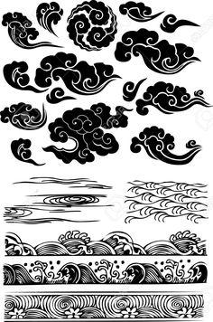 Classique nuage d'eau de mer icône Japanese clouds- for an addition to my dragon and geisha tattoo Kunst Tattoos, Irezumi Tattoos, Arm Tattoos, Geisha Tattoos, Geisha Tattoo For Men, Sleeve Tattoos, Geisha Tattoo Design, Small Tattoos, Tatoos
