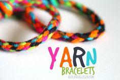 Yarn Bracelets --summer survival week