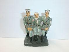 3 alte Hausser Elastolin Massesoldaten Rotkreuz Sanitäter mit Verwundetem 7.5cm | eBay