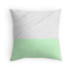 Marble And Mint #Throwpillow by #ARTbyJWP (by-jwp) in #Society6 #cushion #marble #mint #pillow #pillows #pillowcover