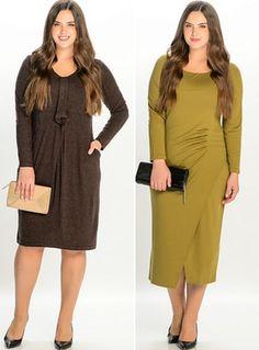 платья для полных женщин строгие