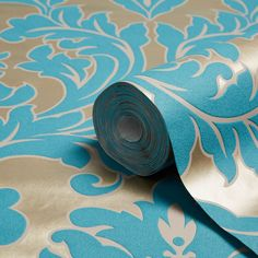 Graham & Brown Superfresco Easy Teal Damask Metallic Effect Wallpaper - B&Q for all your home and garden supplies and advice on all the latest DIY trends Teal Rooms, Diy Store, Graham Brown, Damask Wallpaper, Garden Supplies, Backdrops, Metallic, Decorating Ideas, Basket