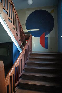 Wood Stairway by Henry Van de Velde