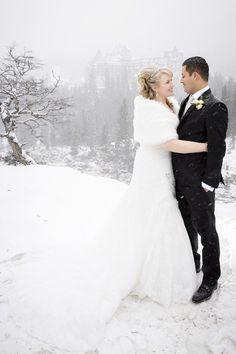 Banff Winter Wedding, Surprise Corner, Fairmont Banff Springs Hotel, banff wedding photographer, www.kimpayantphotography.com