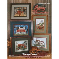 STONEY CREEK BOOKS-Rusty Memories. Vintage cars; tractors; and even an old bicycle are featured in these counted cross stitch patterns! This volume features 5 different patterns plus a color conversion chart. Softcover: 13 pages Made in USA.