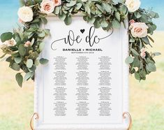 Wedding Seating Chart Sign Seating Chart by BlissPaperBoutique