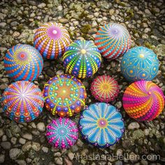 My latest mandala stones