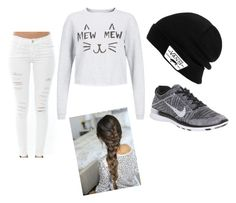 """""""sport"""" by sarabonetmola ❤ liked on Polyvore featuring Vans, Frame Denim and NIKE"""