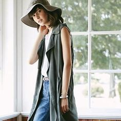 Like new draped trench vest from Anthropologie. Size Small. Worn maybe three times but a little too long for me. Brand: Elevenses. Still available on Anthropologie website at $148.00 Great versatile piece for all seasons. Anthropologie Jackets & Coats Vests