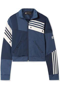 Adidas Originals Blue Daniëlle Cathari Oversized Snap embellished Patchwork Denim Jacket