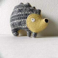 the Hedgehog Petite Plush by threebadseeds