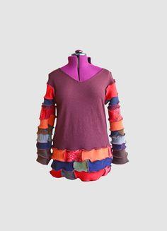 Upcycled Sweater Size Large Women's Boho by LadyMadelineClothing