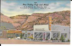 Orderville Utah View of New Valley Cafe Motel Antique Linen Postcard Y1944 | eBay